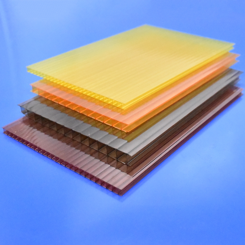 High impact strength Polycarbonate hollow sheet twin-wall plastic sheet greenhouse building material