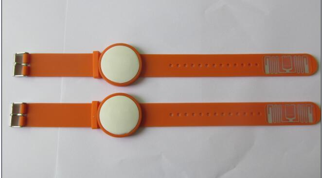 RFID silicone wristband two-tag style
