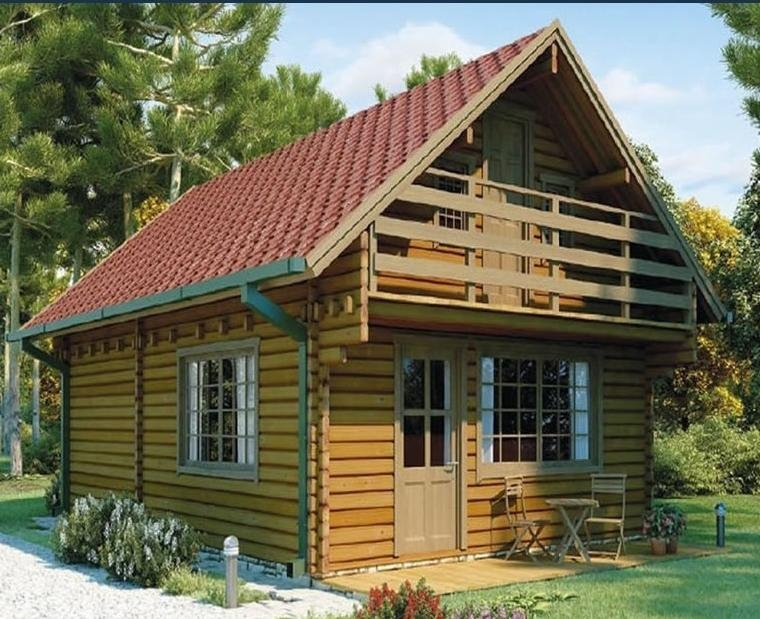 hot sale import solid wooden villa house