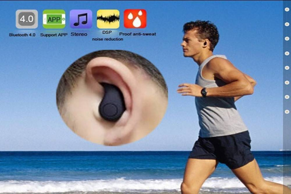 S530 Invisible Bluetooth Headphone Super Mini Wireless Earbud Can Call and Listen Music