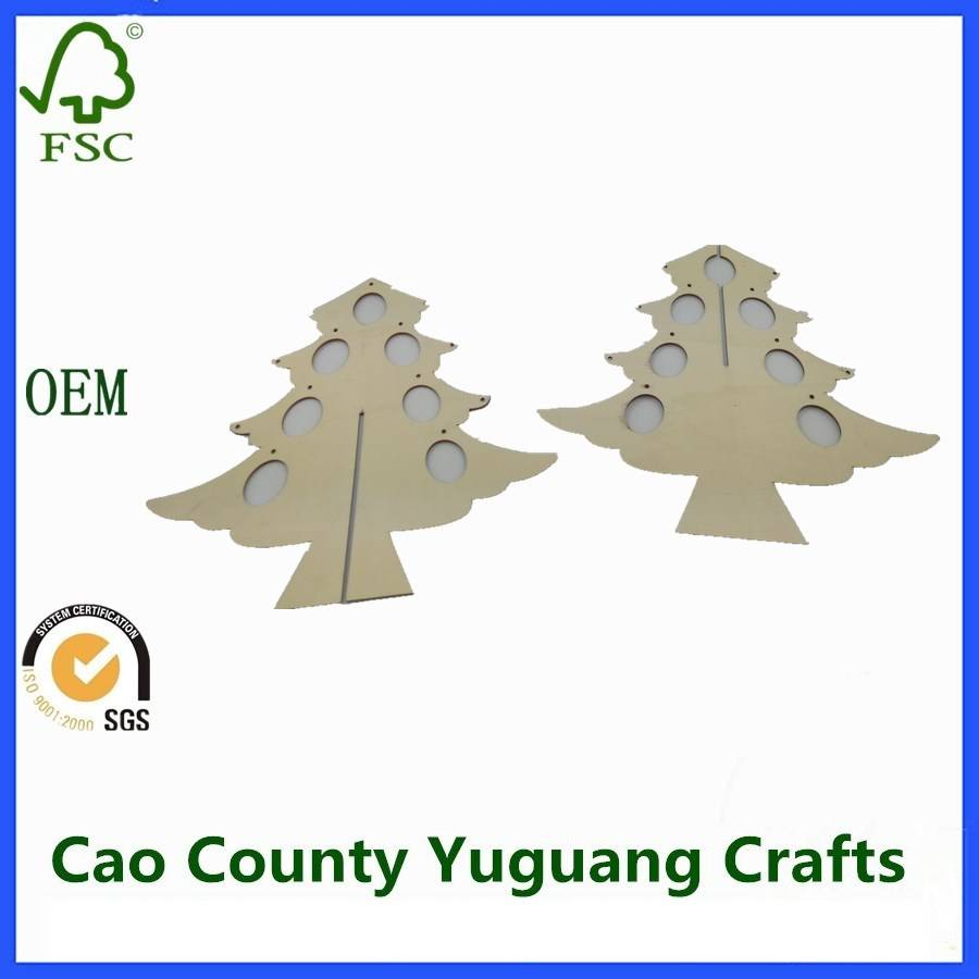 Wooden Plywood Mini Artificial Christmas Tree