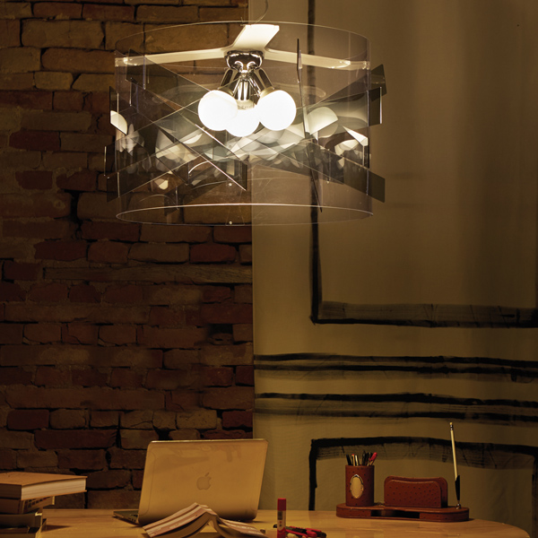 Transparent Polycarbonate Suspension Lamp made in Italy Lighting Solutions