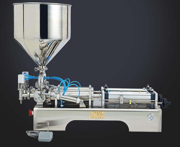 Horizontal pneumatic paste filling machine