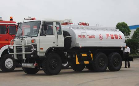 DONGFENG TIANLONG rear double axles aluminum alloy fuel tanker truck