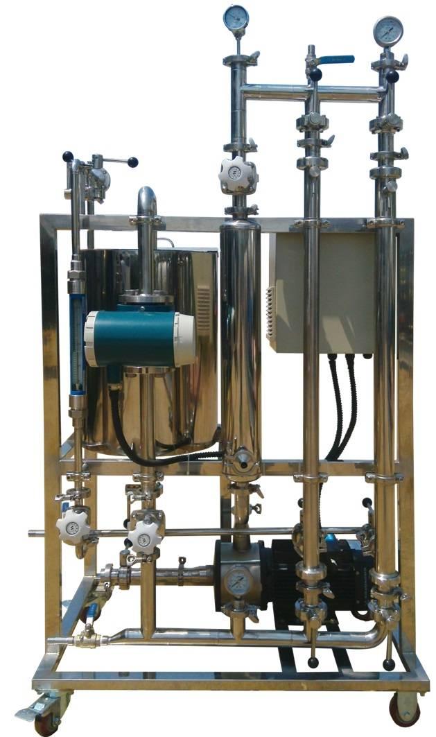 Ceramic membrane pilot machine