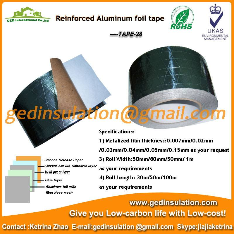 Reinforced aliminum foil tape