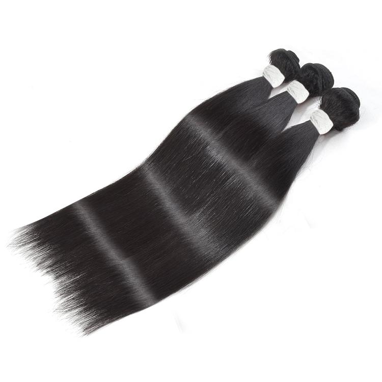100% human hair 24 inch virgin brazilian straight human hair bundles hair weave hair weft extension