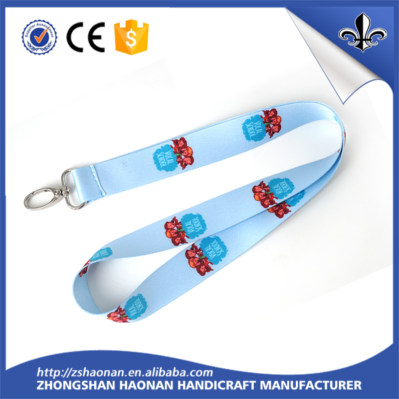 custom logo design polyester wrist strap neck lanyard for key