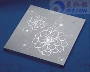 Artistic Aluminum Wall Panel / Custom Art Flowers Carved Decoration Ceiling tiles
