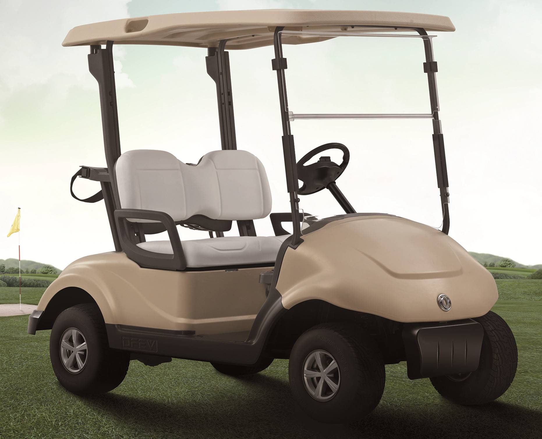 48V 2seats Dongfeng Golf Trolley Golf Cart  high quality Low price
