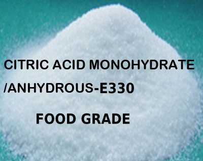 FOOD GRADE CITRIC ACID ANHYDROUS/MONOHYDRATE - E330