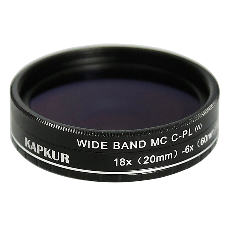 Kapkur HD Macro Lens with CPL 6X(20mm) -18X(60mm) Magnification for iPhone 8