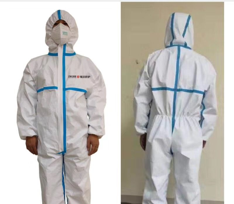 Disposable medical safety protective clothing coveralls protective virus protection suit