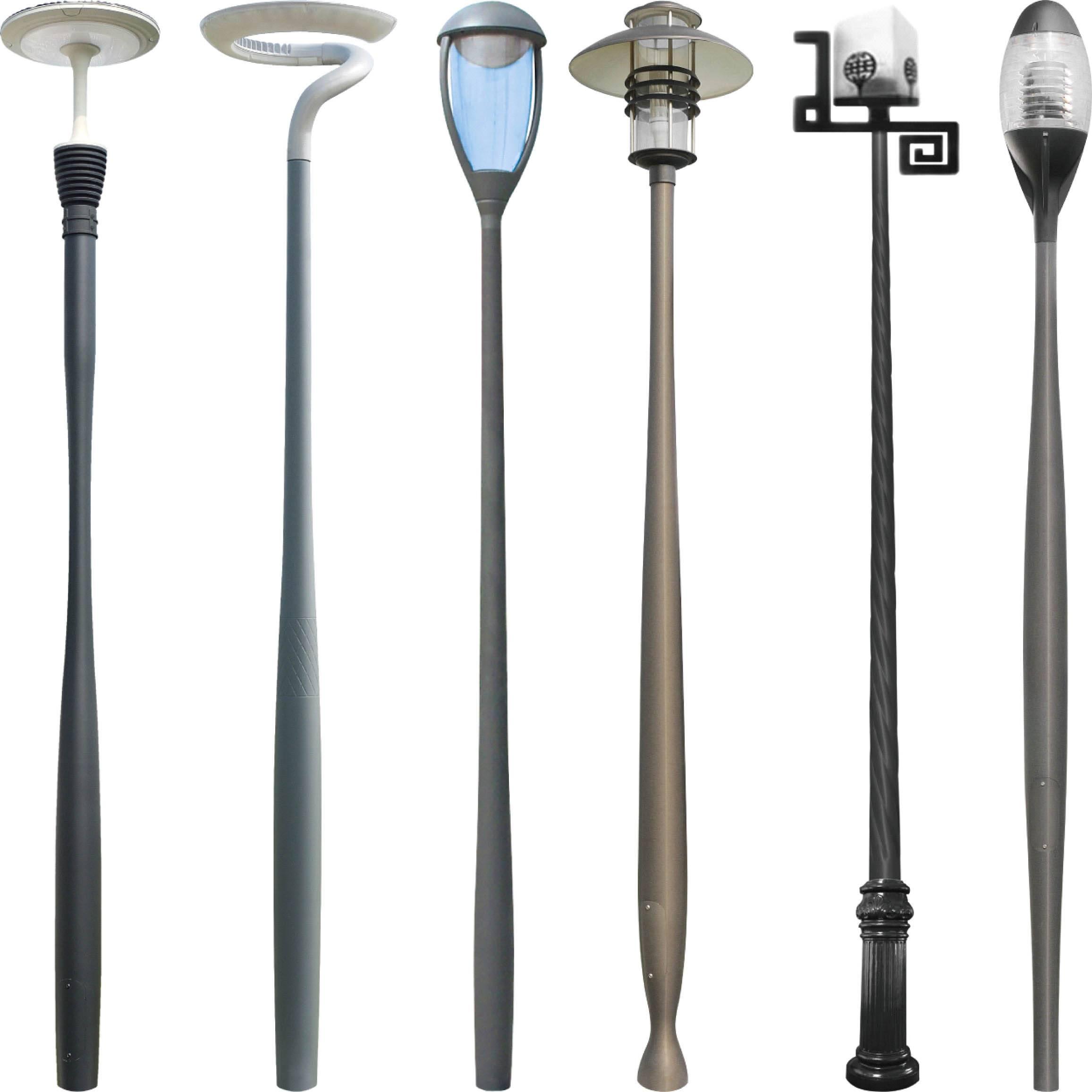 lamp poles, light poles, light posts