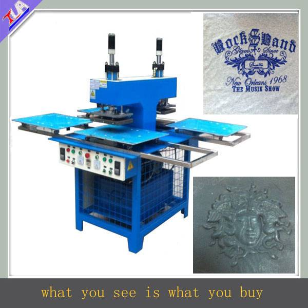 silicone trademark forming machine for garment/leather