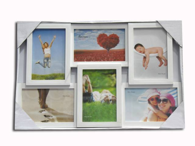 plastic photo frame/picture frame 6pcs