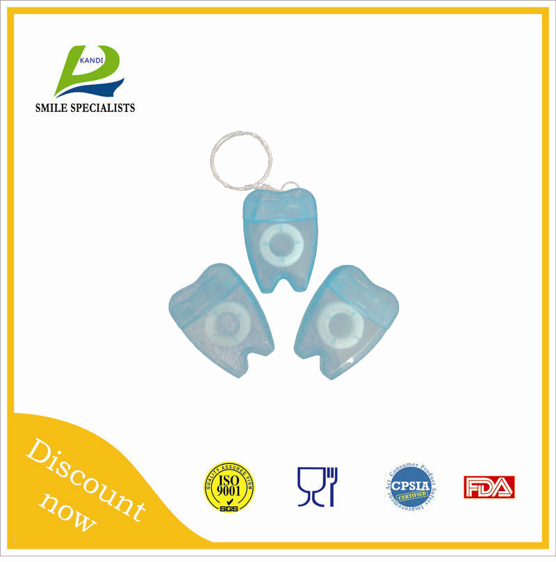 Teeth Shape Dental Flosser with Keychain with 7 colors