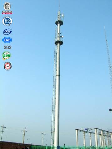 High quality GSM steeled galvanized pole communication tower