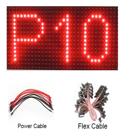 P10 outdoor red color led module indoor single color led display panel module P3 P4 P3.75 P4.75 P7