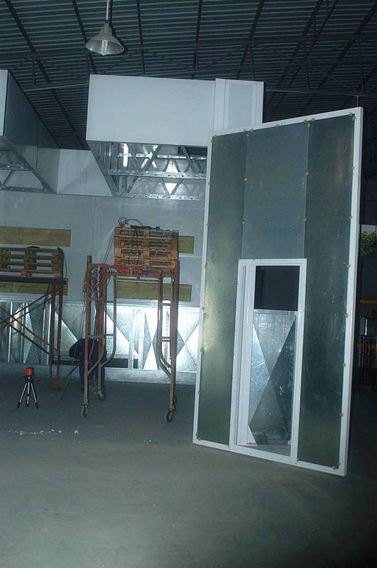Paint Oven Spray Booth with Water-Based Paint