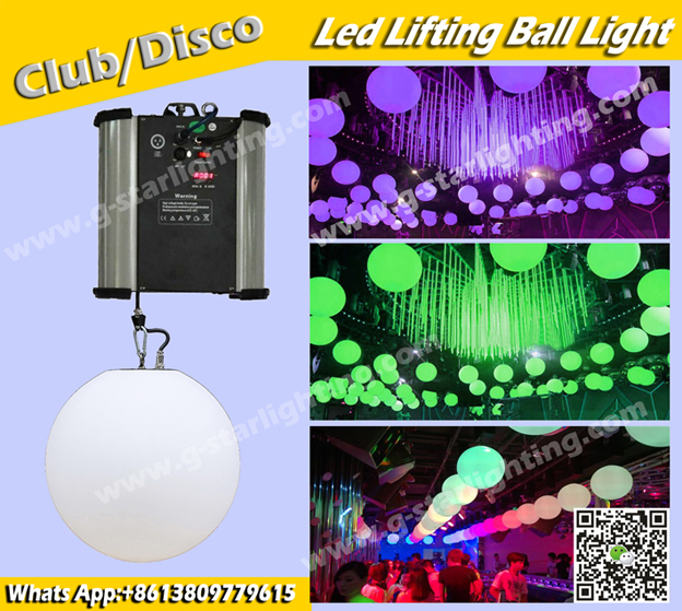 DMX lifting machine Lifting LED ball light disco bar ball Item No:GS-LB01 Voltage :AC90V-240V,