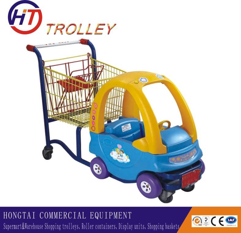 kids beauty shopping trolley cart with toy car