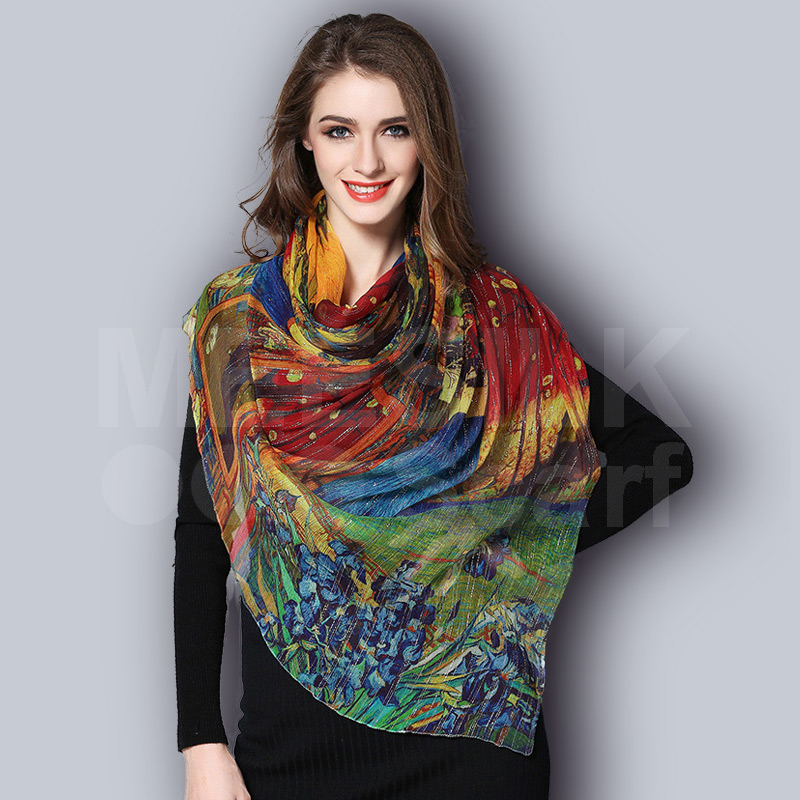 Wholesale High End 100% Silk Scarf Fashion Printed Scarves