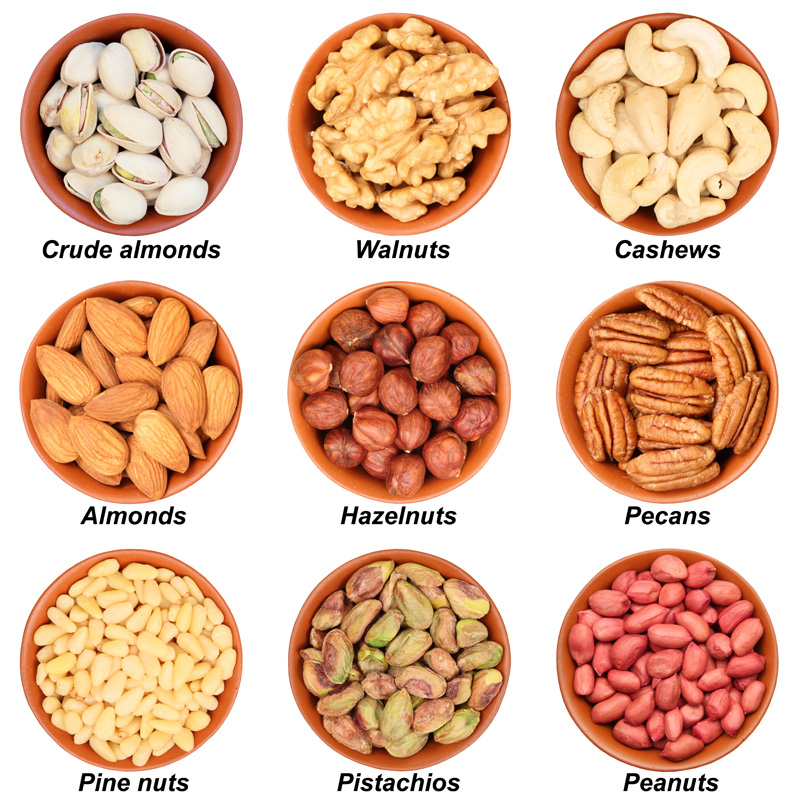 CASHEW NUTS, PISTACHIO NUTS, ALMOND NUTS
