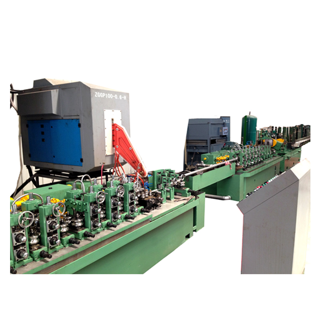 Square Rectangle Carbon Steel Pipe Mill Weld Making Machine Production Line