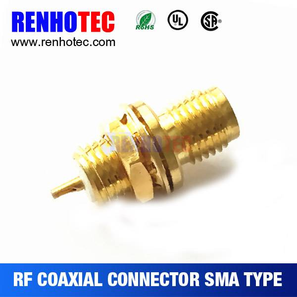 RF Coaxial Connector Bulkhead solder straight Female RG178 SMA Connector