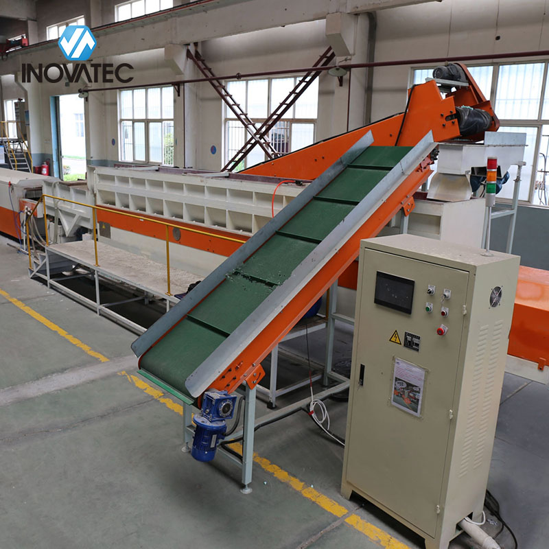 Longitudinal vibratory finishing machine - Continuous