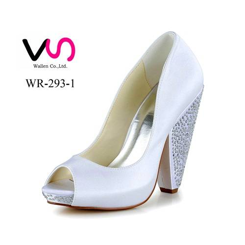 Small Order Small MOQ strong heel women bridal shoes for lawn wedding