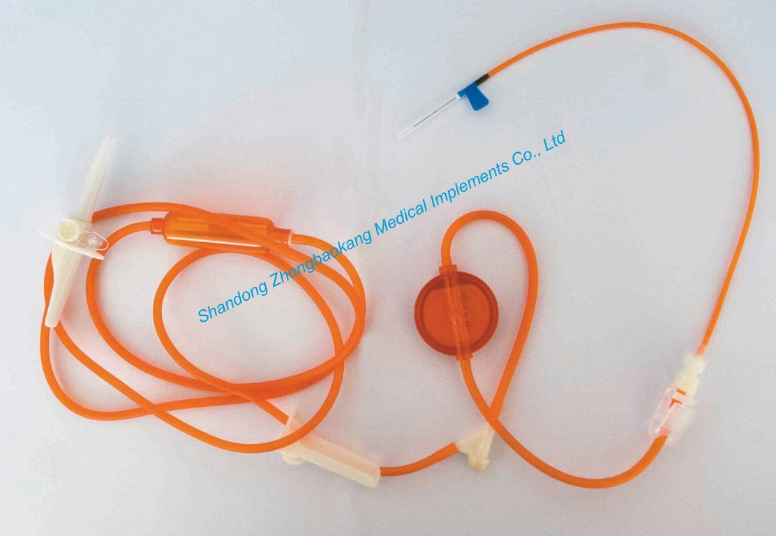 Lightproof Precise Filtering Infusion Set for Single Use