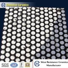 Composite ceramic rubber panel for absorbing high impact