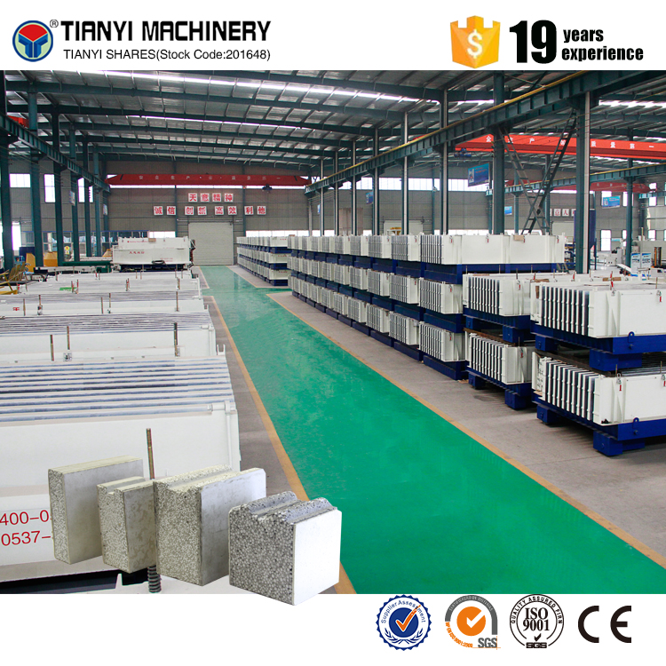 Construction materials eps sandwich wall panel machine/wall panel production line
