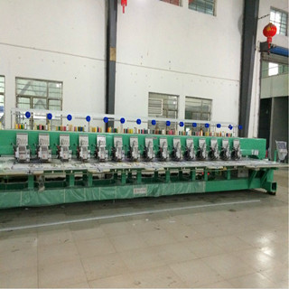 915 flat embroidery machine with sequin device