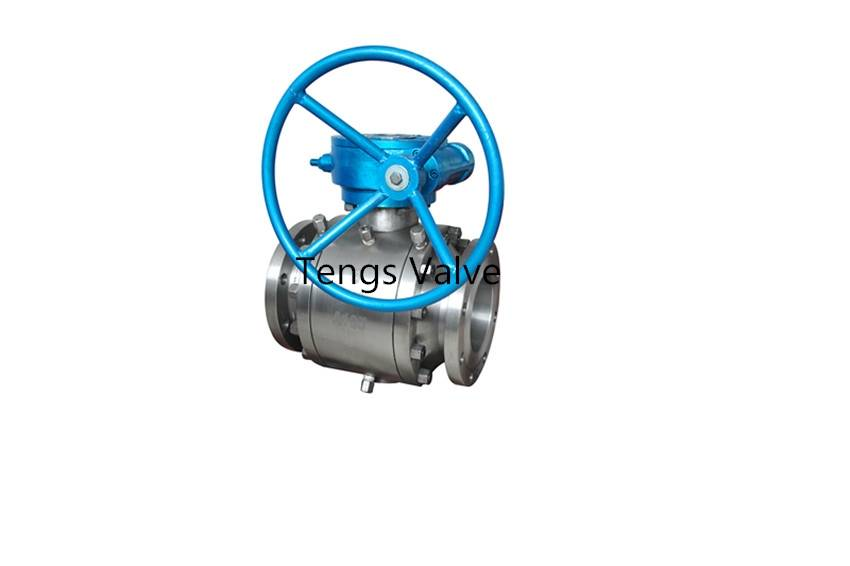 A105N/WCB trunnion mounted ball valve flanged 150lbs-600lbs