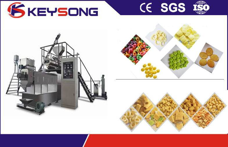 Stainless Steel Twin-screw Extruder for Puffed Snacks Food