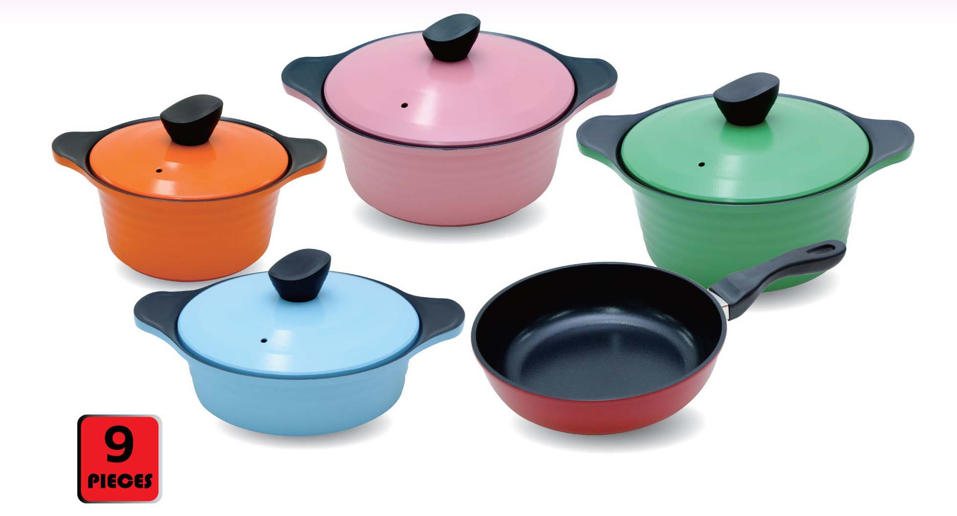 Ceramic coated cookware Set