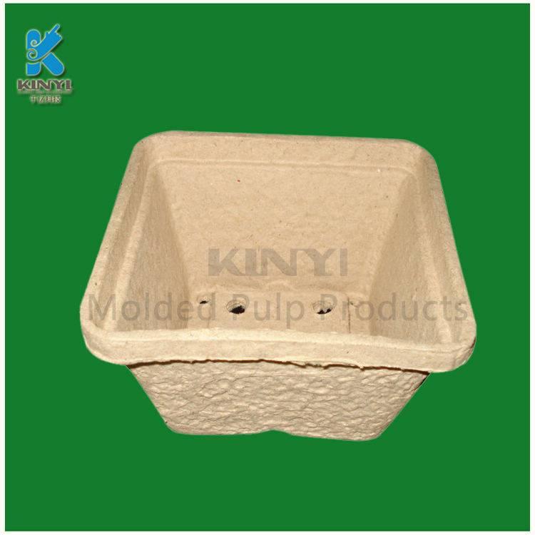 Custom biodegradable bagasse material pulp flower seeds pot