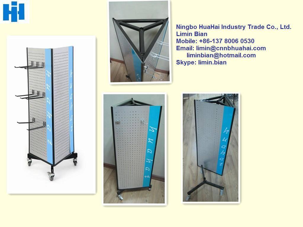 triangular display rack