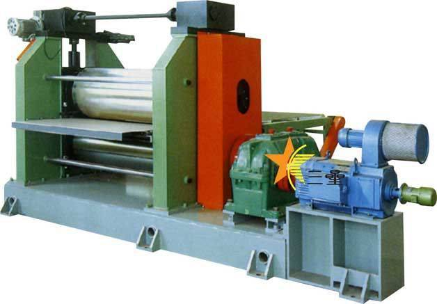 Double-roller calendering machine