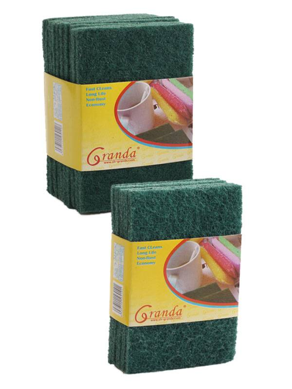 9-Pack General Purpose Green Heavy Duty Nylon Abrasive Scouring Pad