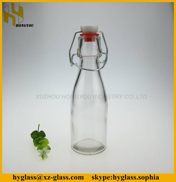 48cl beverage industrial use and juice use wholesale lamp bulb shape clear glass beverage bottle