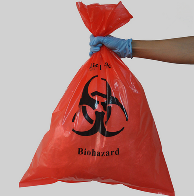 HDPE/LDPE heavy duty medical waste bags, plastic hospital bags