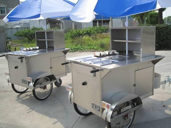New Design!!Shanghai JX-HS120B Hot Dog Cart: - Shanghai