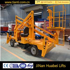 Mobile articulated hydraulic boom lift