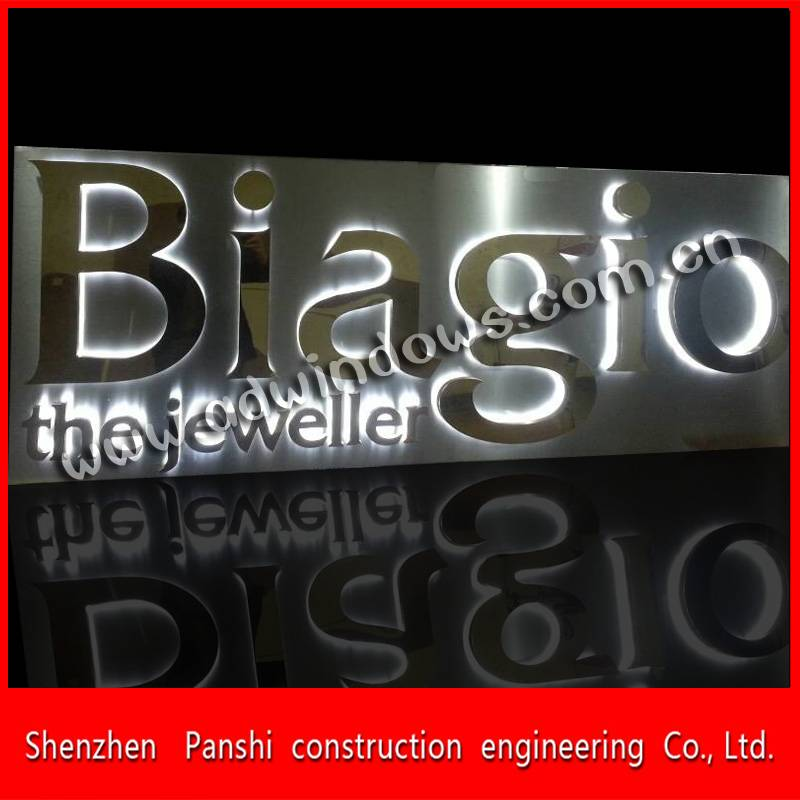 China wholesale stainless steel backlit letter sign