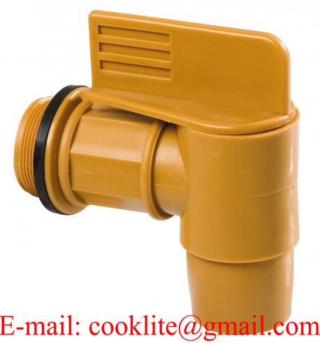 "2"" BSP Thread Polyethylene Drum Faucet Gold Barrel Tap Plastic Spigot"