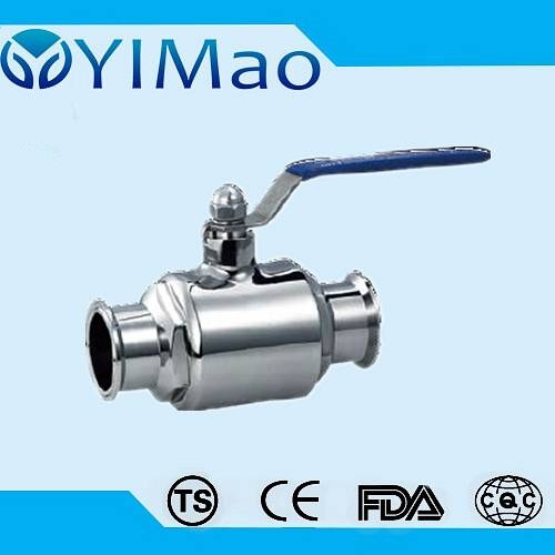 ss304 316 Stainless Steel Clamped straight Ball Valve,sanitary ball valve